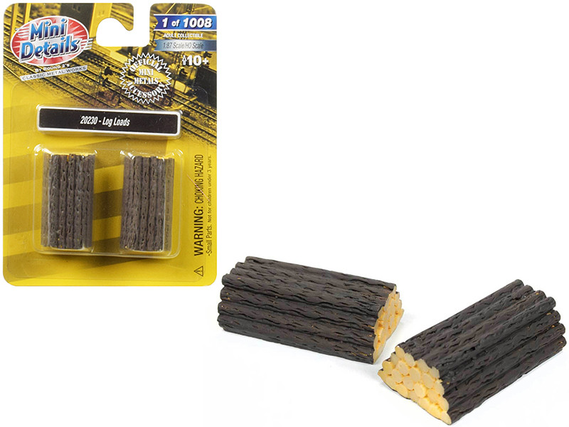 Log Loads 2 piece Accessory Set 1/87 HO Scale Classic Metal Works 20230