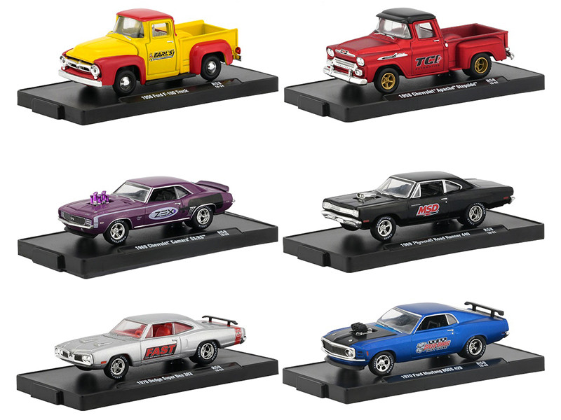 Drivers 6 Cars Set Release 58 Blister Packs 1/64 Diecast Model Cars M2 Machines 11228-58