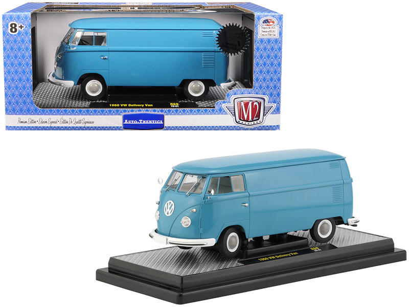 1960 Volkswagen Delivery Van Dove Blue Limited Edition 5880 pieces Worldwide 1/24 Diecast Model M2 Machines 40300-69 A