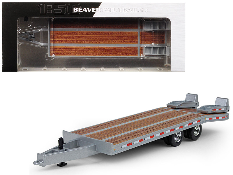 Beavertail Trailer Silver 1/50 Diecast Model First Gear 50-3192
