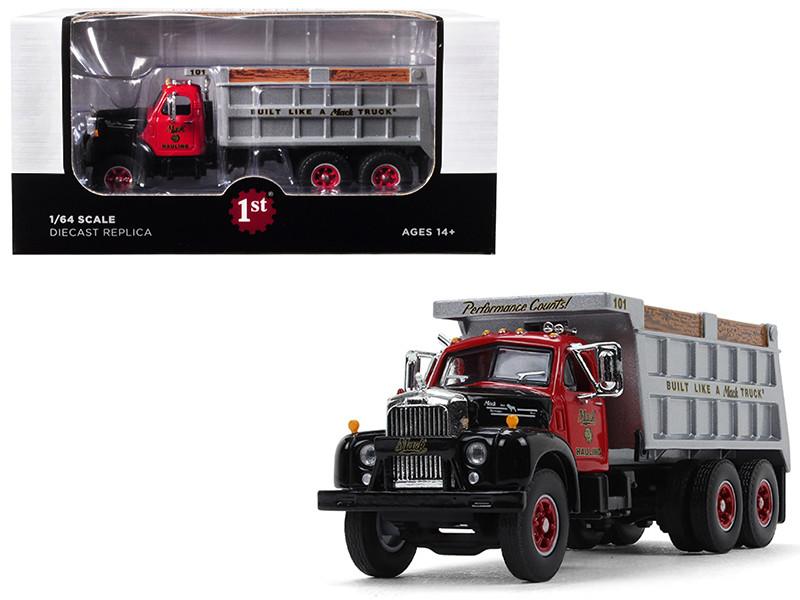 Mack B-61 Tandem Axle Dump Truck Mack Hauling 1/64 Diecast Model First Gear 60-0433