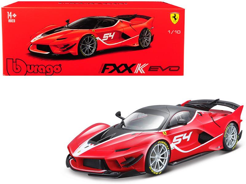 Ferrari FXX K Evo #54 Michael Luzich Signature Series 1/18 Diecast Model Car Bburago 16908