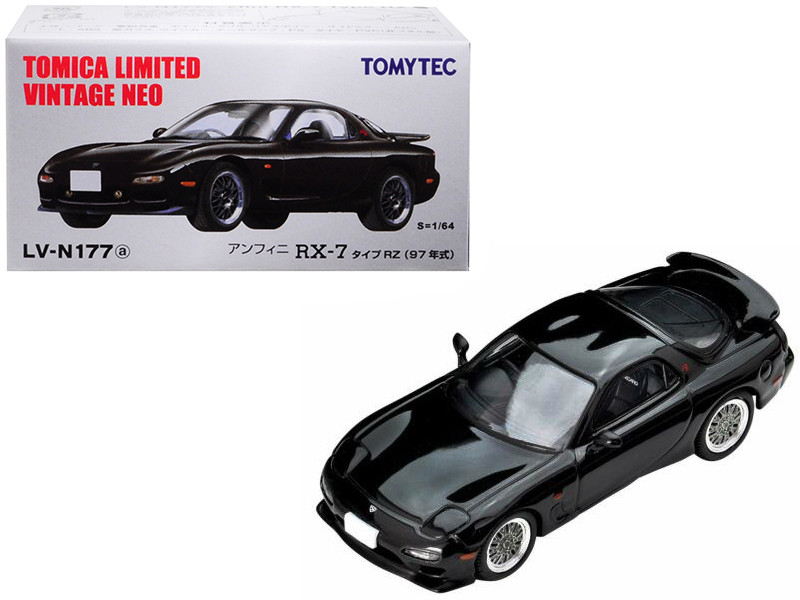 1997 Mazda Efini RX-7 Type RZ RHD Right Hand Drive Black 1/64 Diecast Model Car Tomytec 290032