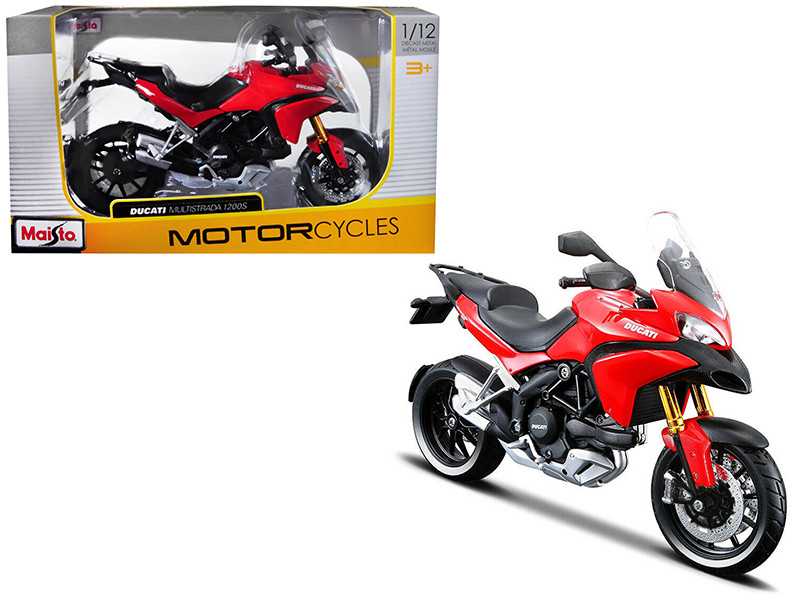 Ducati Multistrada 1200S Red 1/12 Motorcycle Diecast Model Maisto 31188