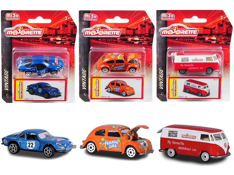 Majorette Vintage Set 3 pieces 1/59 1/61 1/64 Diecast Model Cars Majorette 2015