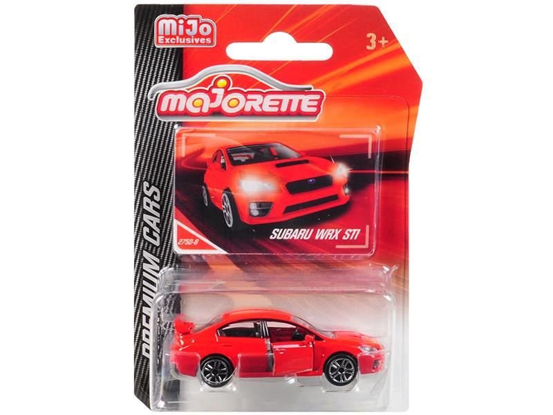 Subaru WRX STI Red Premium Cars 1/58 Diecast Model Car Majorette 3052MJ2