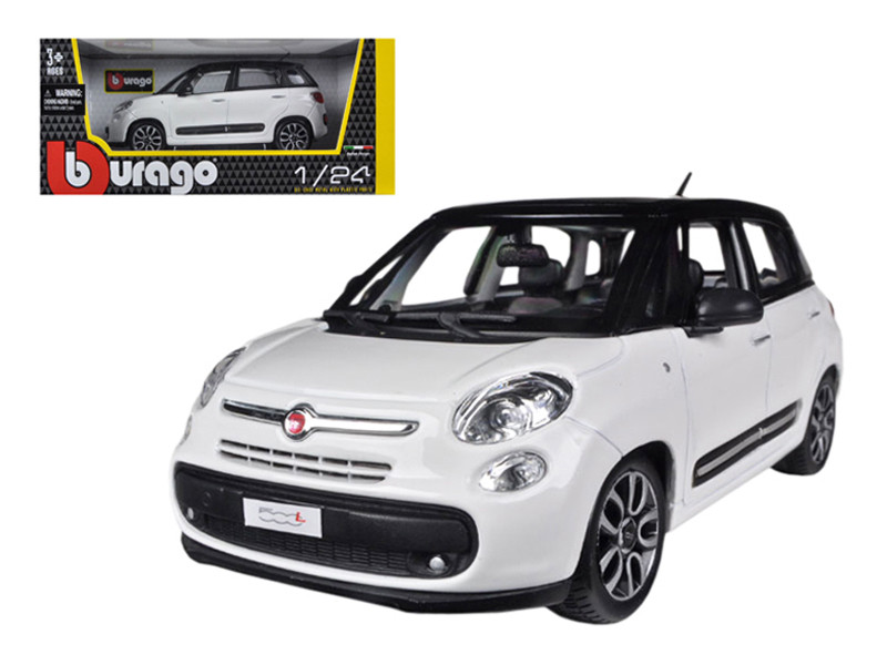 Fiat 500L White 1/24 Diecast Car Model Bburago 22126