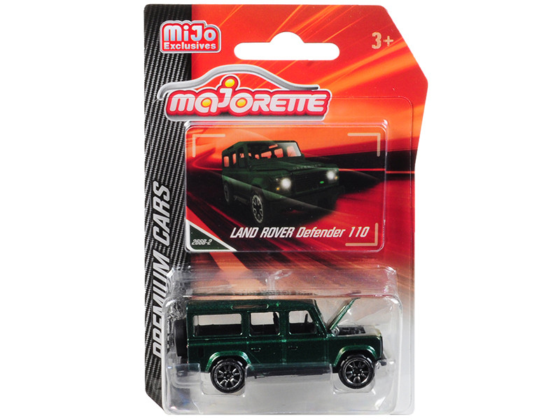 Land Rover Defender 110 Metallic Green Premium Cars 1/60 Diecast Model Car Majorette 3052MJ6