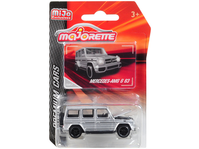 Mercedes AMG G 63 Silver Premium Cars 1/61 Diecast Model Car Majorette 3052MJ8
