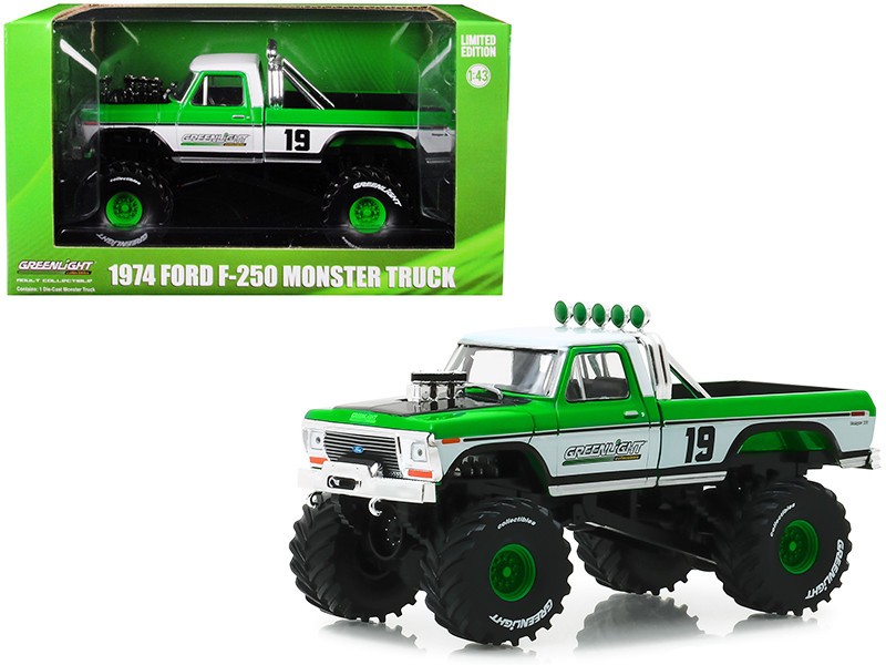 1974 Ford F-250 Monster Truck #19 GreenLight Racing Team 1/43 Diecast Model Car Greenlight 86161