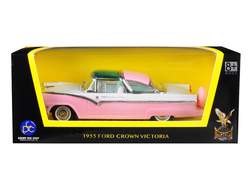 1955 Ford Crown Victoria Pink 1/43 Diecast Model Car Road Signature 94202