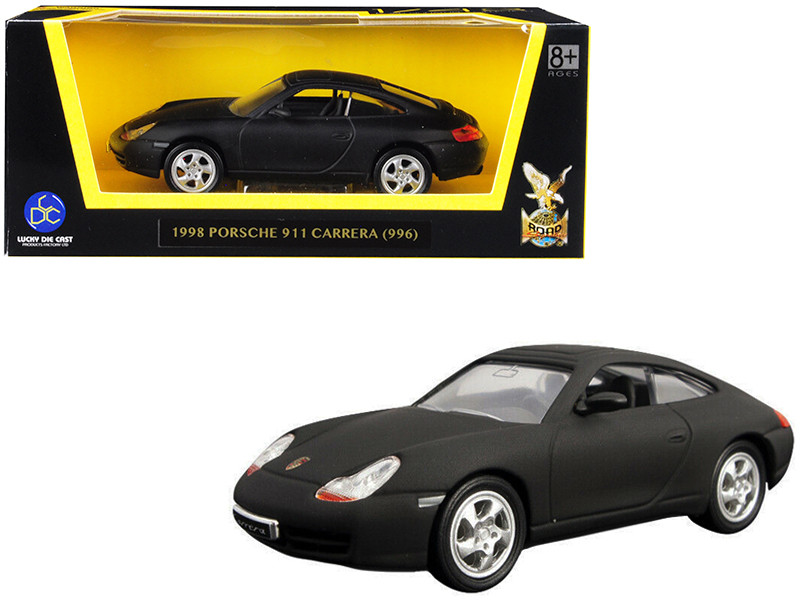 1998 Porsche 911 996 Carrera Matt Black 1/43 Diecast Model Car Road Signature 94221