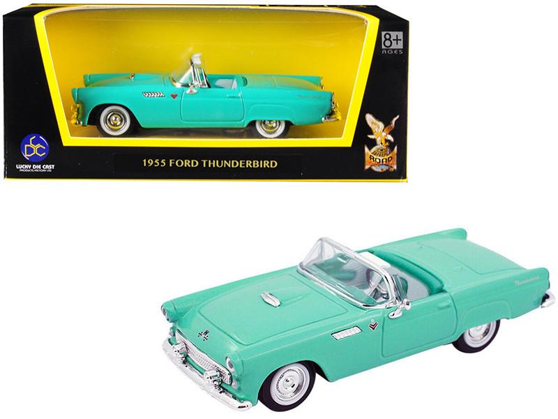 1955 Ford Thunderbird Turquoise 1/43 Diecast Model Car Road Signature 94228
