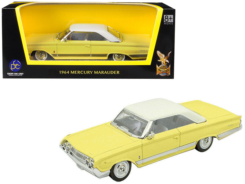 1964 Mercury Marauder Yellow White Top 1/43 Diecast Model Car Road Signature 94250