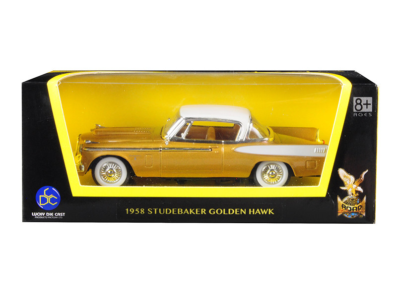 1958 Studebaker Golden Hawk Gold White Top 1/43 Diecast Model Car Road Signature 94254