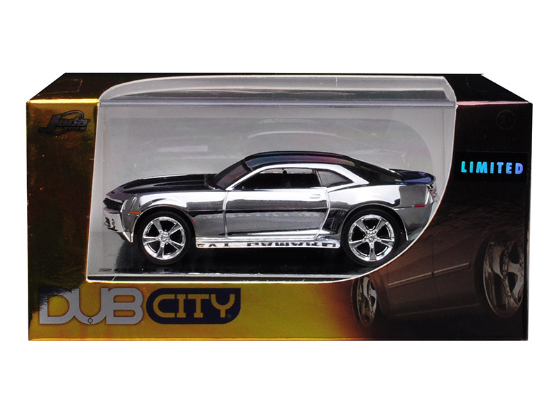 2006 Chevrolet Camaro Concept Chrome Silver Dub City Limited Edition 1/64 Diecast Model Car Jada 91309