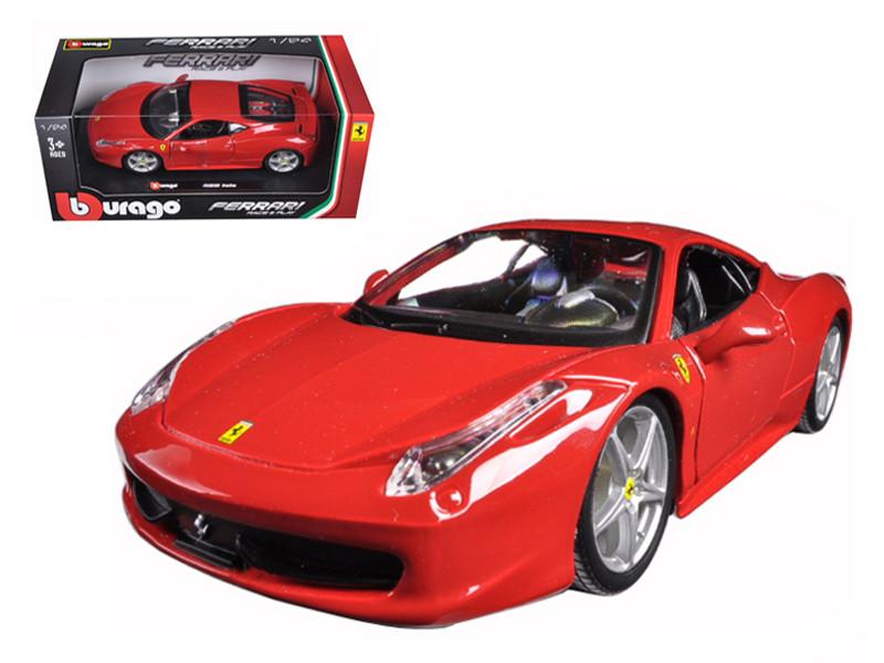 Ferrari 458 Italia Red 1/24 Diecast Model Car Bburago 26003