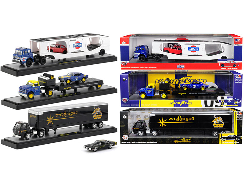 Auto Haulers Release 34 3 Trucks Set 1/64 Diecast Models M2 Machines 36000-34