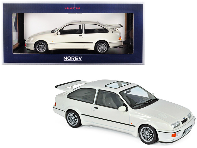1986 Ford Sierra RS Cosworth White 1/18 Diecast Model Car Norev 182771