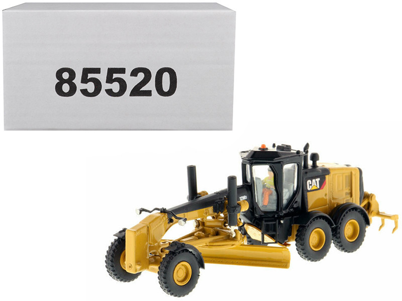 CAT Caterpillar 12M3 Motor Grader Operator High Line Series 1/87 HO Scale Diecast Model Diecast Masters 85520