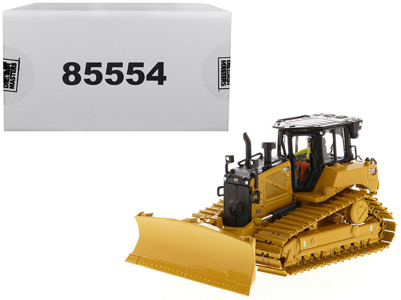 CAT Caterpillar D6 XE LGP Track Type Tractor Dozer VPAT Blade Operator High Line Series 1/50 Diecast Model Diecast Masters 85554