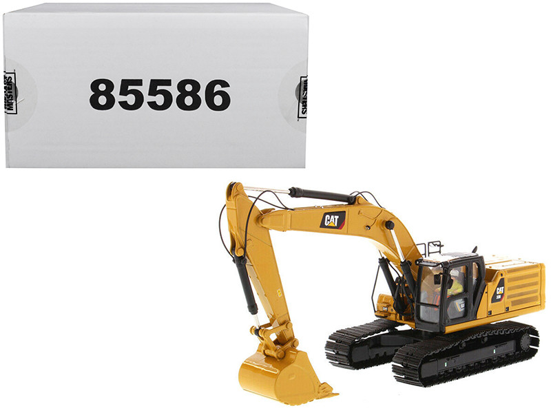 CAT Caterpillar 336 Next Generation Hydraulic Excavator Operator High Line Series 1/50 Diecast Model Diecast Masters 85586