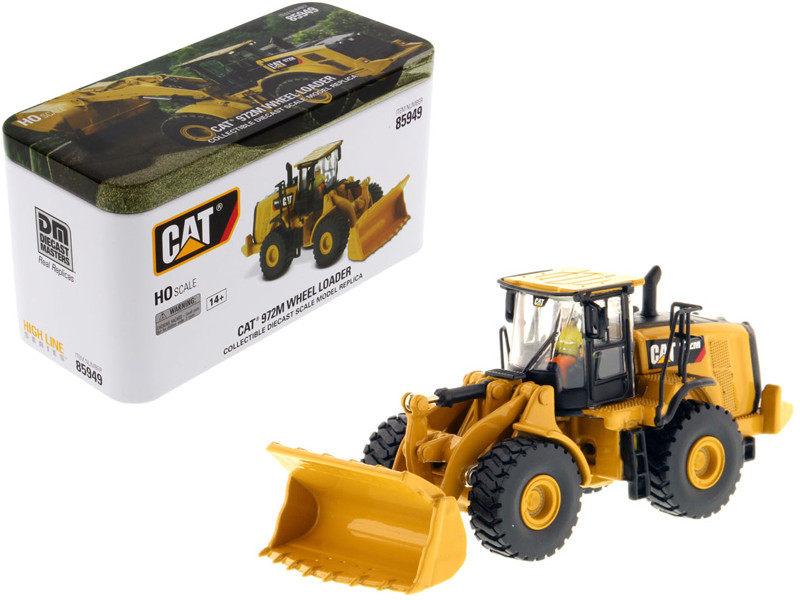 CAT Caterpillar 972M Wheel Loader Operator High Line Series 1/87 HO Scale Diecast Model Diecast Masters 85949