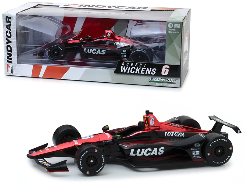 Honda Dallara #6 Robert Wickens Lucas Oil Schmidt Peterson Motorsports 1/18 Diecast Model Car Greenlight 11047