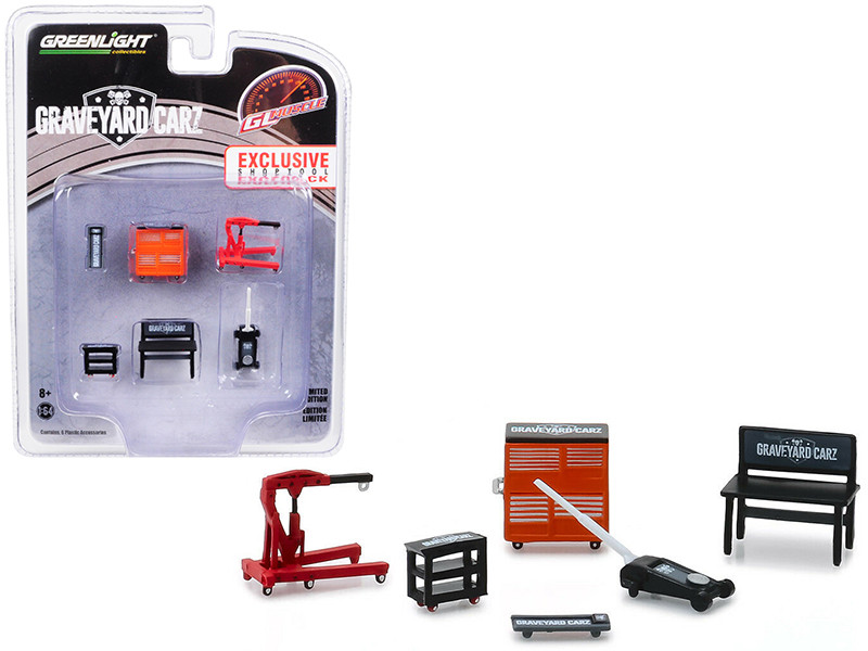 Greenlight Muscle 6 piece Set Shop Tools Graveyard Carz 2012 TV Series 1/64 Greenlight 13174