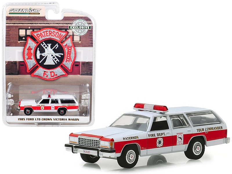 1985 Ford LTD Crown Victoria Wagon Paterson New Jersey Fire Department Hobby Exclusive 1/64 Diecast Model Car Greenlight 30024