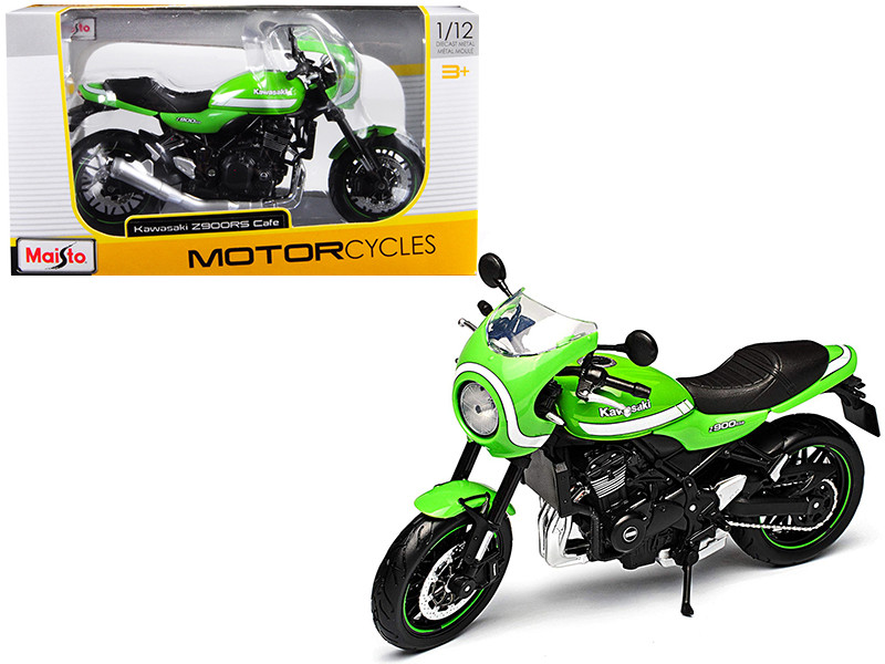 Kawasaki Z900RS Cafe Green 1/12 Diecast Motorcycle Model Maisto 18989