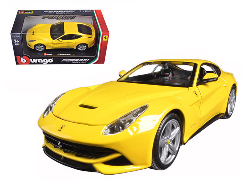 Ferrari F12 Berlinetta Yellow 1/24 Diecast Model Car Bburago 26007