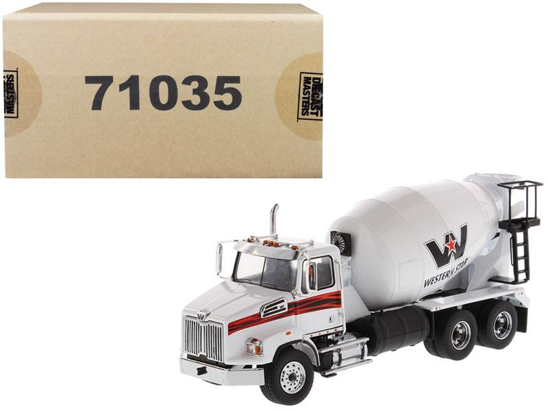 Western Star 4700 SB Concrete Mixer Truck White 1/50 Diecast Model Diecast Masters 71035
