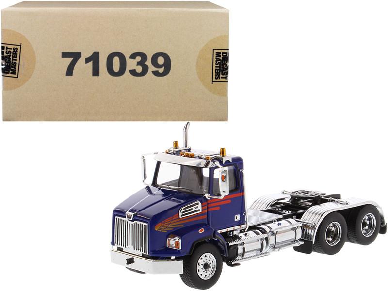 Western Star 4700 SB Tandem Day Cab Tractor Blue 1/50 Diecast Model Diecast Masters 71039