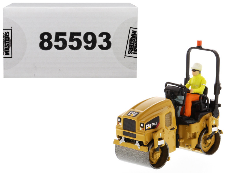 CAT Caterpillar CB-2.7 Utility Compactor with Operator High Line Series 1/50 Diecast Model Diecast Masters 85593