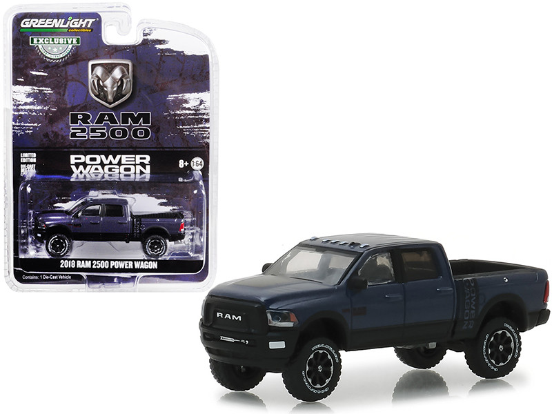 2018 Dodge Ram 2500 Power Wagon Pickup Truck Metallic Dark Purple Hobby Exclusive 1/64 Diecast Model Car Greenlight 30016