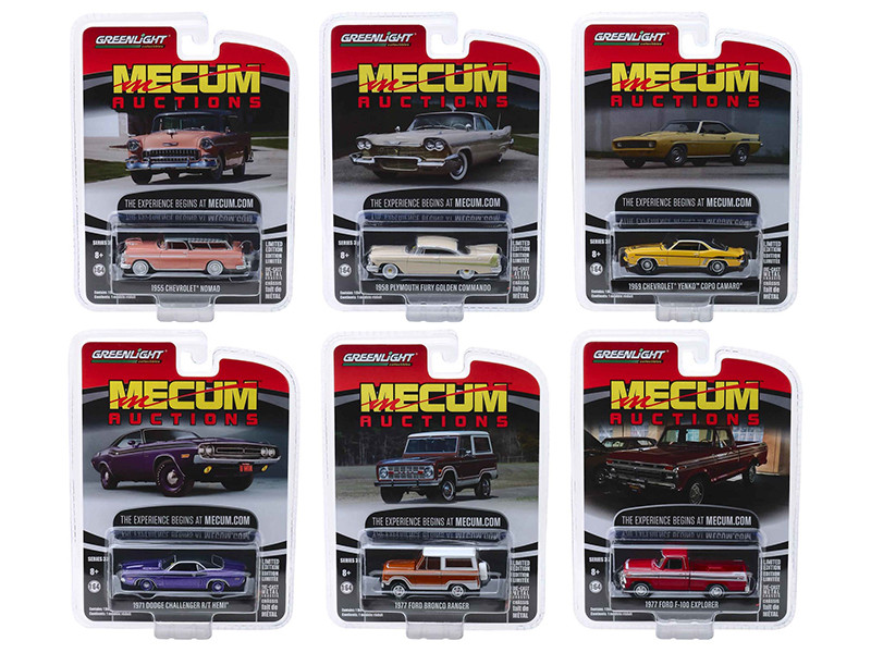 Mecum Auctions Collector Cars Series 3 Set 6 pieces 1/64 Diecast Model Cars Greenlight 37170