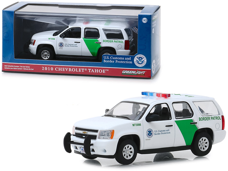 2010 Chevrolet Tahoe US Customs and Border Protection Border Patrol 1/43 Diecast Model Car Greenlight 86163