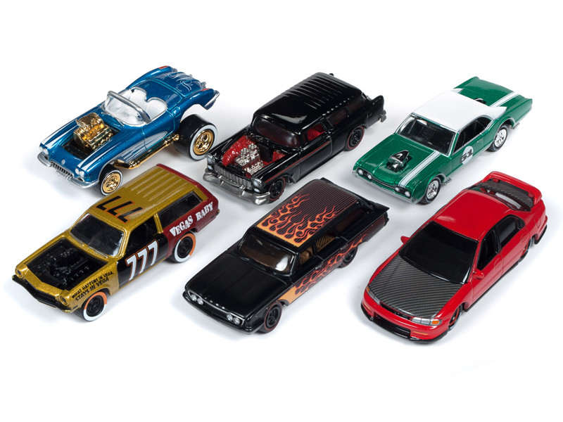 Street Freaks 2019 Release 2 Set B 6 Cars Limited Edition 3000 pieces Worldwide 1/64 Diecast Models Johnny Lightning JLSF013 B