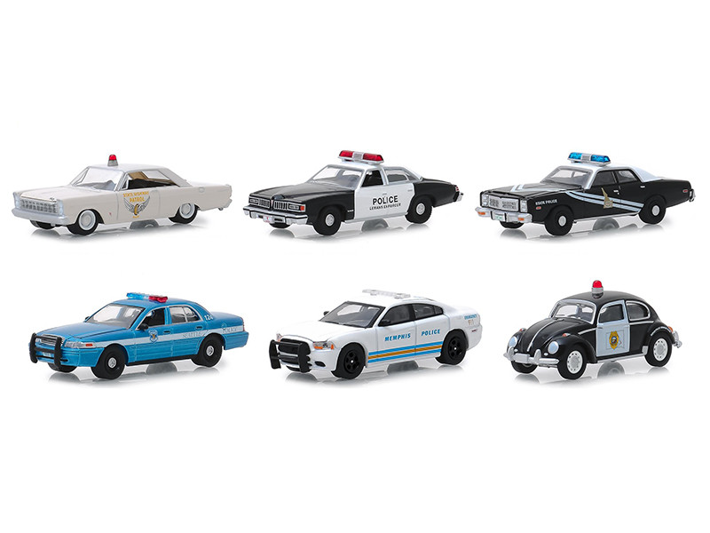 Hot Pursuit Series 31 Set 6 Police Cars 1/64 Diecast Models Greenlight 42880