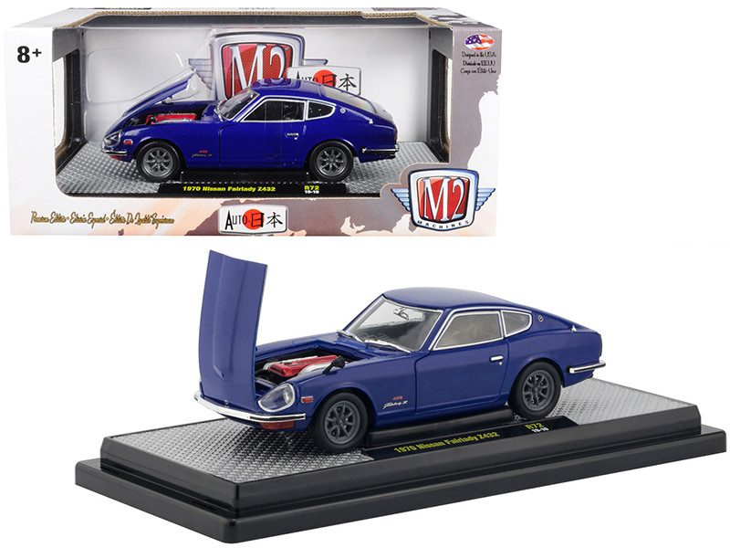 1970 Nissan Fairlady Z432 Dark Blue Auto Japan Limited Edition 5800 pieces Worldwide 1/24 Diecast Model Car M2 Machines 40300-72 B