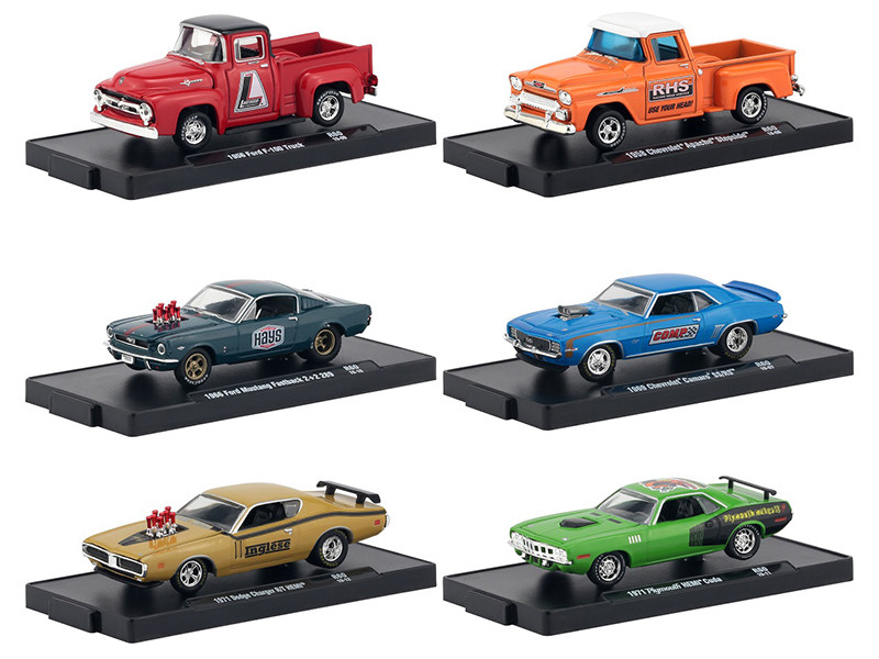 Drivers 6 Cars Set Release 60 Blister Packs 1/64 Diecast Model Cars M2 Machines 11228-60