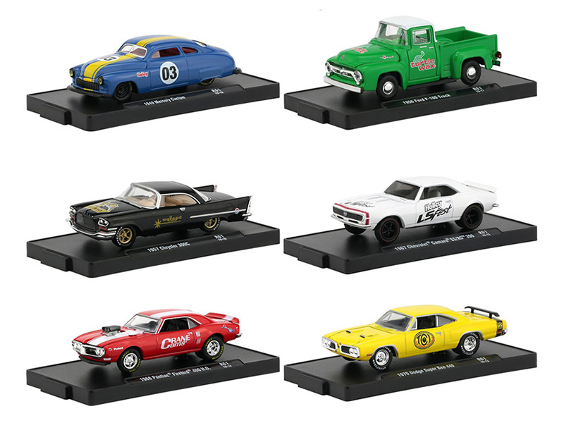 Drivers 6 Cars Set Release 61 Blister Packs 1/64 Diecast Model Cars M2 Machines 11228-61