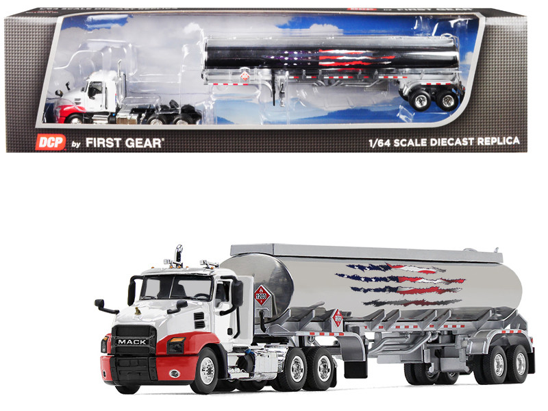 Mack Anthem Day Cab 42' Fuel Tank Trailer 1/64 Diecast Model DCP First Gear 60-0538