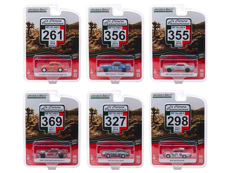 La Carrera Panamericana Series 1 Set 6 pieces 1/64 Diecast Model Cars Greenlight 13240