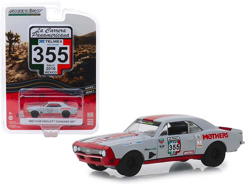 1967 Chevrolet Camaro SS #355 Rally Mexico 2018 La Carrera Panamericana Series 1 1/64 Diecast Model Car Greenlight 13240 C