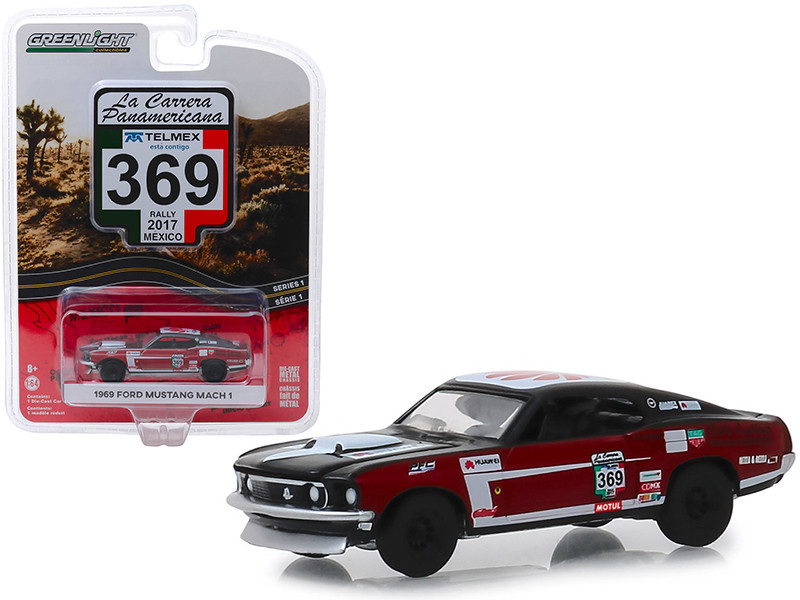 1969 Ford Mustang Mach 1 #369 Rally Mexico 2017 La Carrera Panamericana Series 1 1/64 Diecast Model Car Greenlight 13240 D