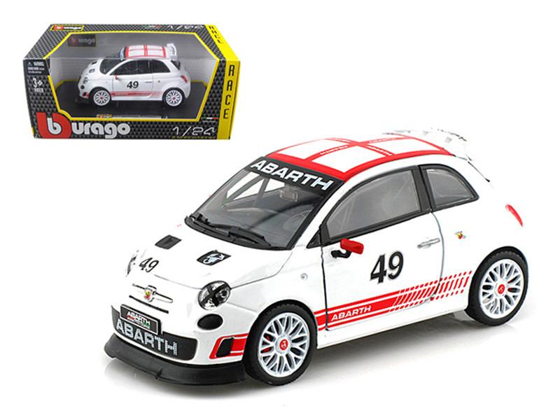 Fiat Abarth 500 #49 Assetto Course 1/24 Diecast Car Model Bburago 28101
