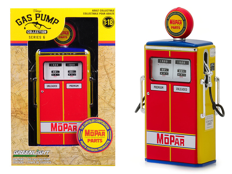 1954 Tokheim 350 Twin Gas Pump MOPAR Parts The Chrysler Corporation Parts Division Products Vintage Gas Pumps Series 6 1/18 Diecast Model Greenlight 14060 C