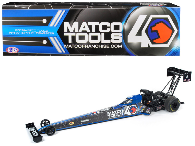 2019 Funny Car NHRA Antron Brown TFD Top Fuel Dragster Matco Tools 40th Anniversary 1/24 Diecast Model Car Autoworld CP7586
